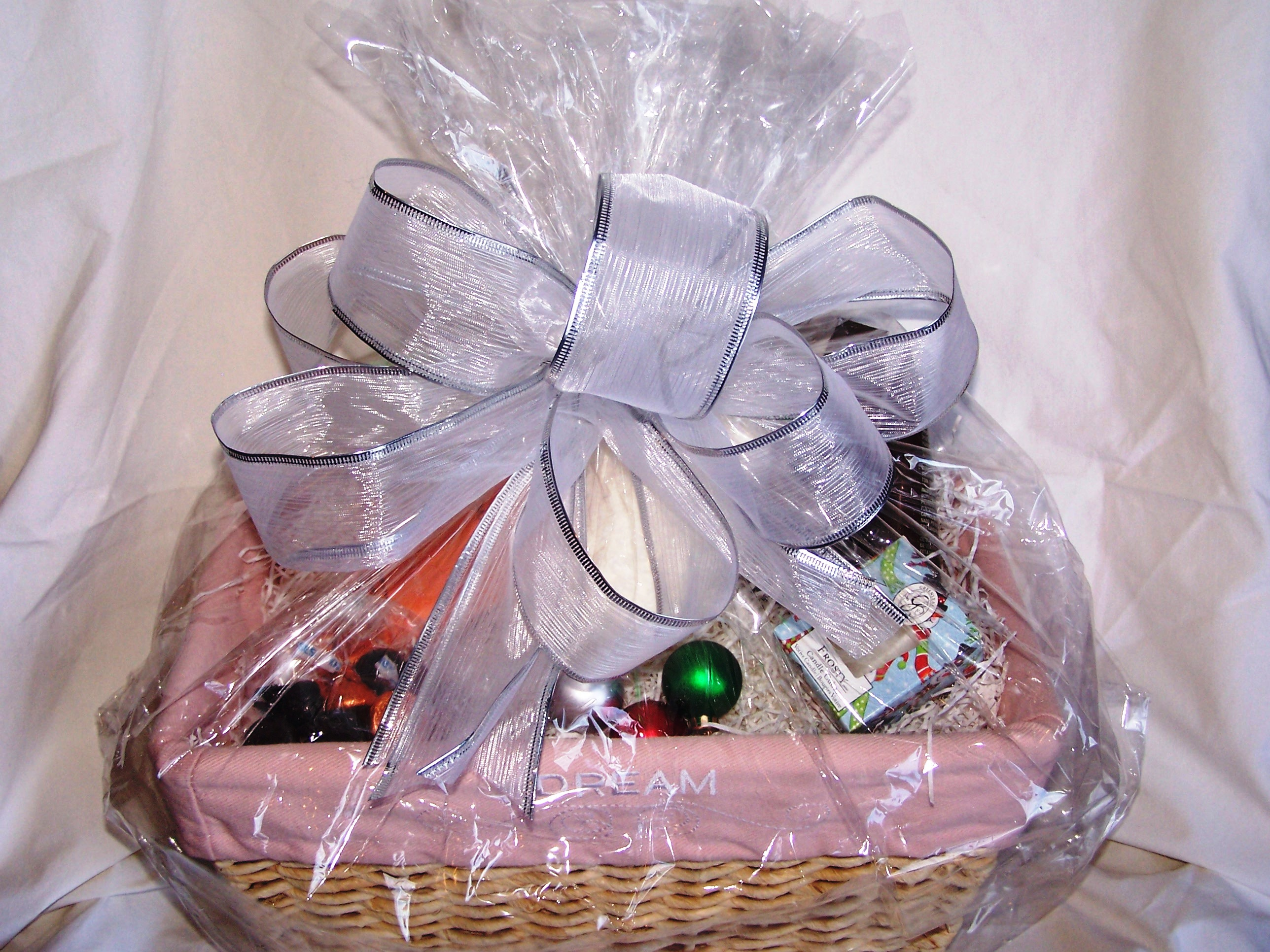 Gift ideas michelles sharing site spa basket wrapped teacher gift negle Choice Image